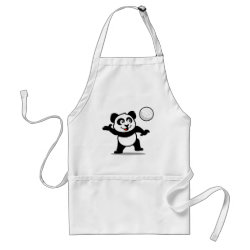 Apron with Cute Volleyball Panda design