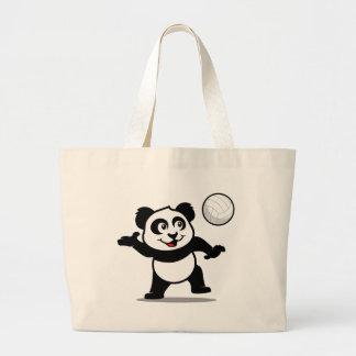 Volleyball Panda Jumbo Tote Bag