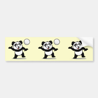 Volleyball Panda Car Bumper Sticker