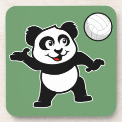 Beverage Coaster with Cute Volleyball Panda design