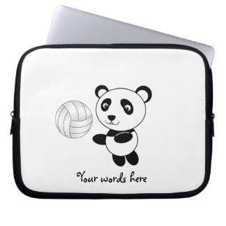 Volleyball panda laptop sleeve