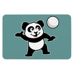 4'x6' Photo Magnet with Cute Volleyball Panda design
