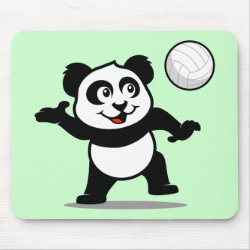 Cute Volleyball Panda Mousepad