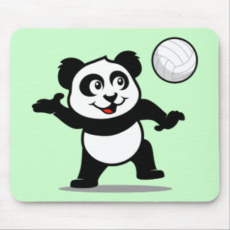 Volleyball Panda Mouse Pad