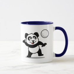 Combo Mug with Cute Volleyball Panda design