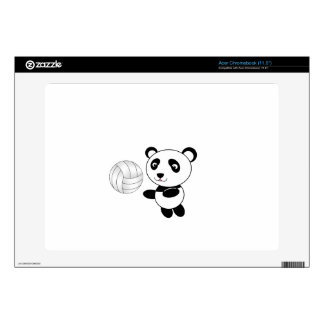 Volleyball panda acer chromebook decal