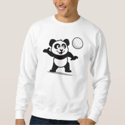 Men's Basic Sweatshirt with Cute Volleyball Panda design