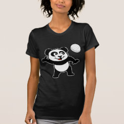 Women's American Apparel Fine Jersey Short Sleeve T-Shirt with Cute Volleyball Panda design