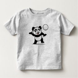 Toddler Fine Jersey T-Shirt with Cute Volleyball Panda design