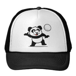 Trucker Hat with Cute Volleyball Panda design