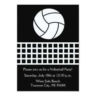 Volleyball Party Birthday Fun Sports Beach 5x7 Paper Invitation Card