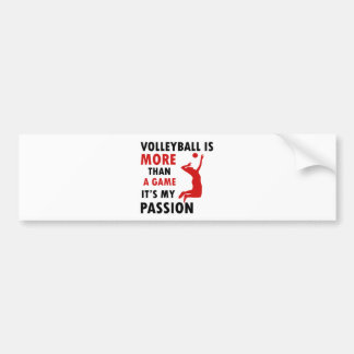 volleyball passion design car bumper sticker