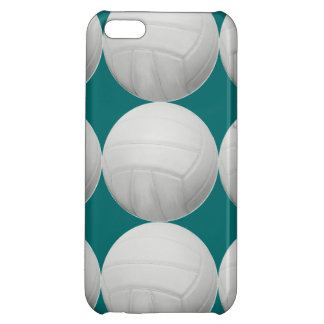 Volleyball Pattern on Aqua Green or any color iPhone 5C Covers