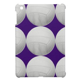 Volleyball Pattern on Purple iPad Mini Covers