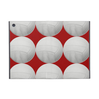 Volleyball Pattern on Red iPad Mini Case