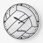 Volleyball Personalized Sports Lovers Custom Clock