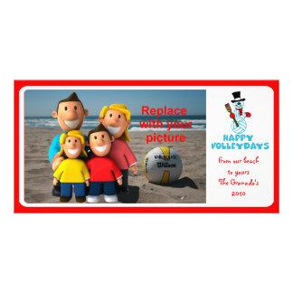 Volleyball PhotoCard Happy VolleyDays II Card