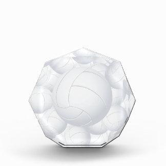 volleyball pile acrylic award