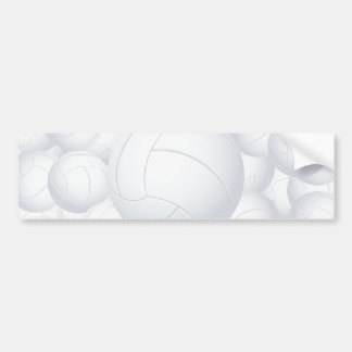volleyball pile car bumper sticker