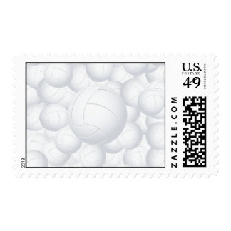 volleyball pile stamp