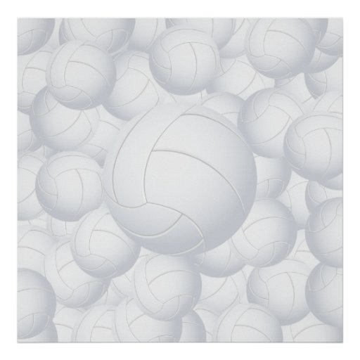 volleyball pile poster