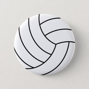 15 Buttons Volleyball Button Volleyball Pin Volleyball Party Favor SE011 Blue Volleyball Volleyball Ready to Ship 1 Pinback Button