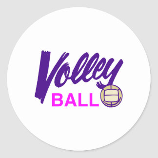 Volleyball (Pink) Classic Round Sticker