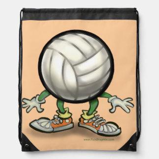 Volleyball Drawstring Backpacks