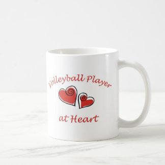 Volleyball Player at Heart Coffee Mug