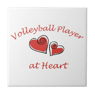 Volleyball Player at Heart Tile