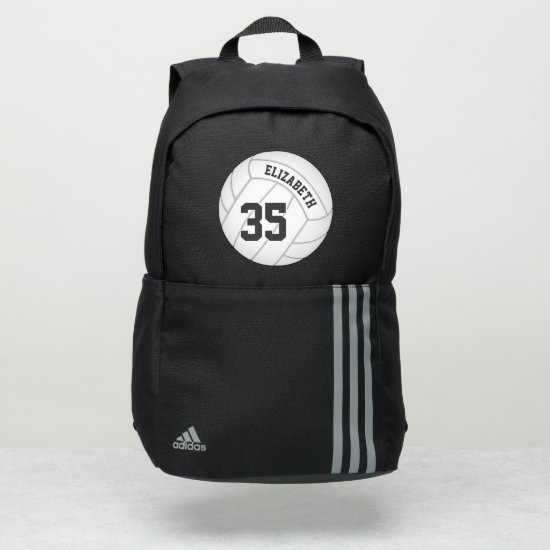 volleyball player backpack w name jersey number