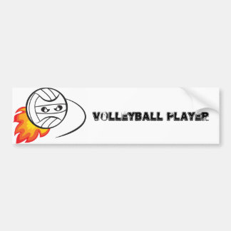 Volleyball Player Bumper Sticker