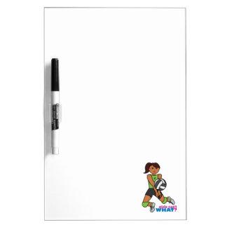 Volleyball Player - Dark Dry Erase Whiteboards