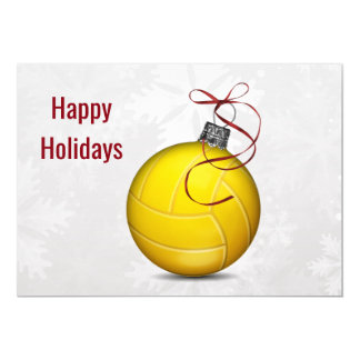 volleyball player Holiday Greeting Cards
