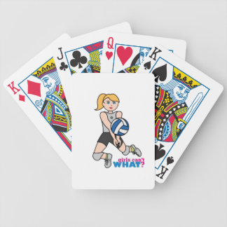 Volleyball Player - Light/Blonde Bicycle Playing Cards