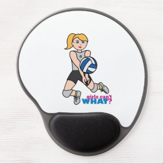 Volleyball Player - Light/Blonde Gel Mouse Pad
