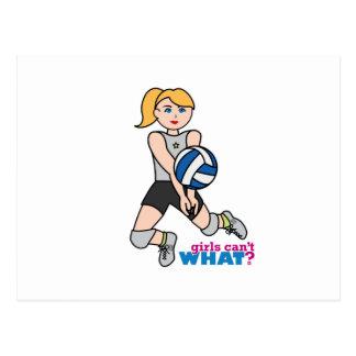 Volleyball Player - Light/Blonde Postcard