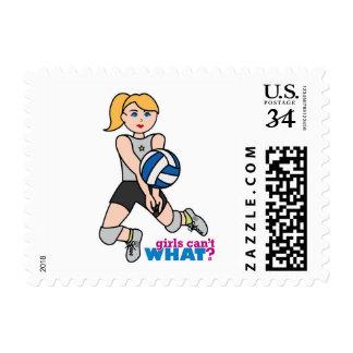 Volleyball Player - Light/Blonde Stamp