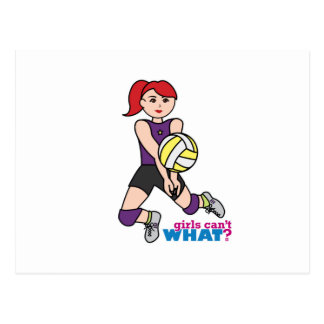 Volleyball Player - Light/Red Postcard