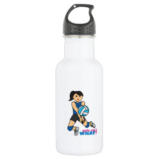 Volleyball Player - Medium Stainless Steel Water Bottle