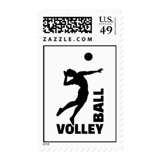 Volleyball player postage