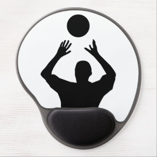 Volleyball Player Silhouette Gel Mouse Pad