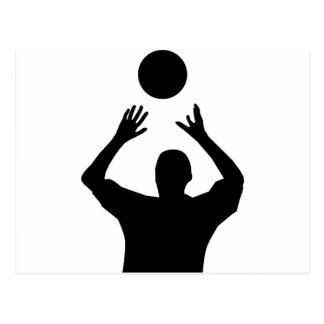 Volleyball Player Silhouette Postcard