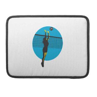 Volleyball Player Spiking Ball Retro MacBook Pro Sleeve