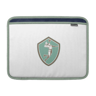 Volleyball Player Spiking Ball Shield Retro Sleeves For MacBook Air