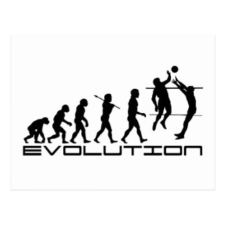 Volleyball Player Sport Evolution Art Postcard