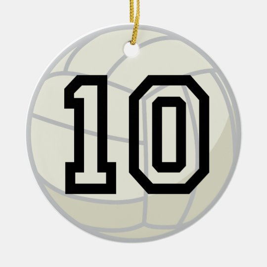 volleyball player uniform number 10 ornament zazzle com