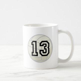 Volleyball Player Uniform Number 13 Gift Mug