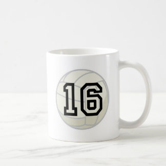 Volleyball Player Uniform Number 16 Gift Classic White Coffee Mug