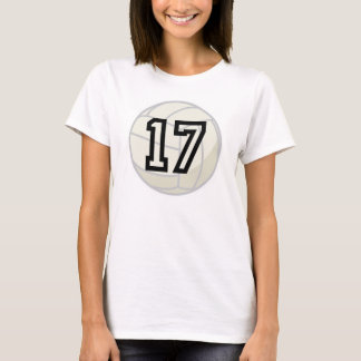Volleyball Player Uniform Number 17 Gift T-Shirt